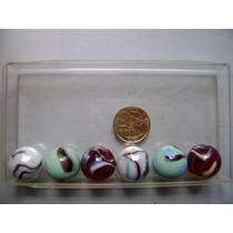 Rb2632 - 6 Bolas Bolinhas De Gude Importadas Diferentes 25mm
