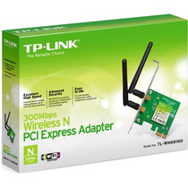 Adaptador Pci Express Wireless N De 300 Mbps Tl-wn881nd Fret