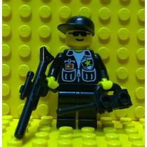 Lego City Policial Atirador De Elite C/ Rifle - Frete Grátis