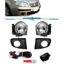 Kit Farol Milha Neblina Fiat Idea 2006 2007 2008 2009 2010