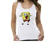 Camiseta Regata Desenho Bob Esponja - Feminino