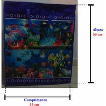 Sacolas Para Sacoleiras Estampa De Peixe 65x55x27