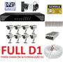 Kit Cftv 8 Cameras Infra , Dvr Stand Alone 8 Canais Full D1