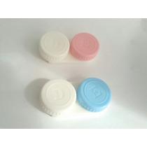 2 Estojos Para Lentes De Contato Gelatinosas Cor Azul E Rosa