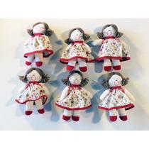 Coleção 6 Chaveiros De Bonecas De Pano