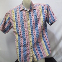 Camisa Imp Basic Element Cotton G Estampada Rosa/azul 589