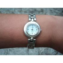Relógio Analógico Importado Quartz Pulseira Prata Delicado
