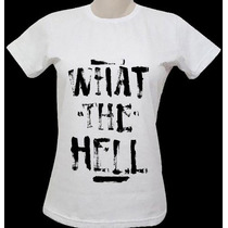 Blusas Avril Lavigne ( What The Hell) - Babylook Feminina