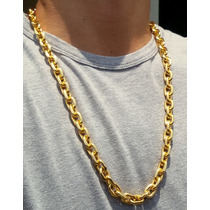 Gigante Corrente Cordão Folheado A Ouro 18k 80cm 11mm Top
