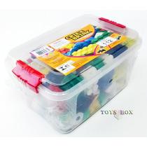 Brinquedo De Montar - Blocos - Caixa Plástica C/ 112 Peças