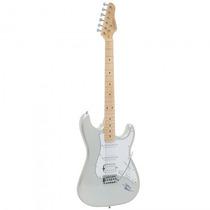 Guitarra Giannini G-101 Sv/wh Stratocaster Prata - Refinado