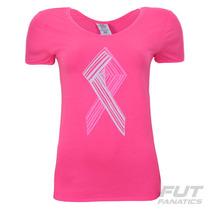Camiseta Under Armour Big Ribbon Pink Feminina - Futfanatics