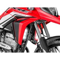 Farol Moto Luz Led Milha Auxiliar Drl Honda Xre 300