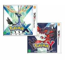 Pokemon X + Y Nintendo 3ds - Combo Original Novo Lacrado
