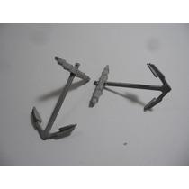 2 Ancoras Miniaturas Para Navio Feita Em Metal