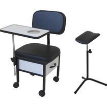 Kit Manicure 01 = Cadeira Para Manicure + Tripé