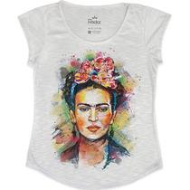 Blusa Feminina Em Tecido Flamê - Frida Kahlo