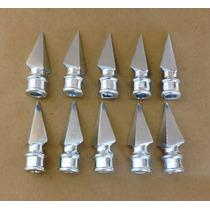50 Lanças Lancetas Em Aluminio Com Furo 3/8 Portoes E Grades