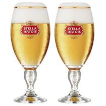 2 Cálice Taça Copo Stella Artois 250ml Cerveja+ Caixa+ Nota