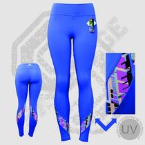 Calça Leggings Sabotage Oceanic Leg Cintura Alta Suplex Vest