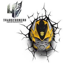 Luminária 3d Bumblebee Transformers - Autobots Vingadores