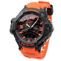 Relógio Casio G-shock Ga1000 4a Laranja Original Na Lata