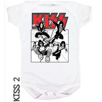 Body Bebê Rock - Kiss, Guns And Roses, Iron Maiden E Mais !