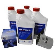 Kit Oleo De Motor 5w30 Semi Sintetico + Filtro De Oleo Gm