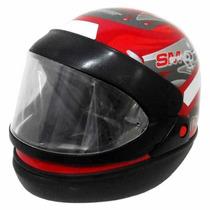 Capacete Moto Vermelho San Marino 60 Taurus
