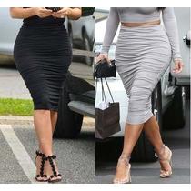 Saia Franzida Kim Kardashian Top De Vendas - Pronta Entrega