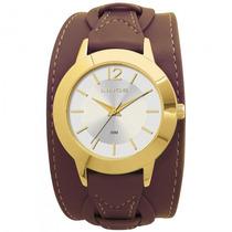 Relógio Lince Lrc4208l S2mx Feminino Dourado Couro- Refinado