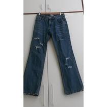 Calça Jeans Desfiada Boca Larga Ecletic!!!