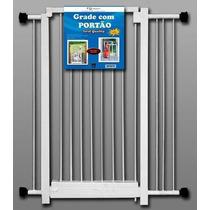 Grade Portão De Segurança P/ Bebe Escadas + 2 Extensores