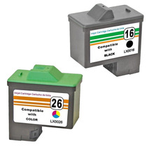 Kit Cartucho Remanu Lexmark 16 | 17 + 26 | 27 X1270 X1195