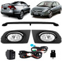 Kit New Civic Si 2006 A 2008 Aerofolio + Kit Farol Milha