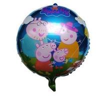 Balão Metalizado Peppa Pig E Família 45 Cm. Diâmetro