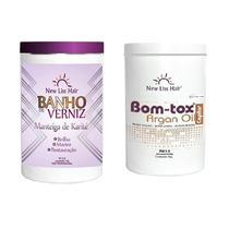 Argan Bom-tox Botox New Liss Hair + Banho De Verniz Karité