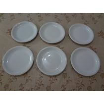 Conjunto Pratos Sobremesa 6 Peças Porcelana Schmidt Branco