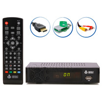 Conversor Digital Tv Full Hd Usb Cabo Hdmi Rca Leitor Grátis