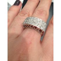 Ivi1388 = Anel Vivara O.branco 18k ,diamantes !!!
