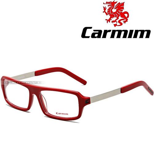 e8e8227df Óculos Grau Carmim Masculino Armação Vermelho Prata Original (Armani ...