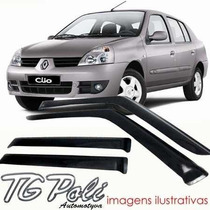 Calha Defletor De Chuva Renault Clio 00/14 4 Portas Tg Poli