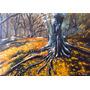 Quadro Outono Paisagem 40x60cm Pintura Óleo Sobre Tela