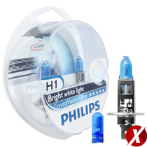 Kit Lâmpadas Philips H7 + H1 + H11 Crystal Vision Ultra