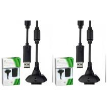 Kit 2 Bateria Recarregavel Xbox 360 Cabo Forte Xbox 360