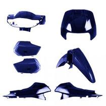 Kit Tampas+carenagem Completo Biz 100 Azul Perolizado 2005