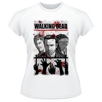 Baby Look The Walking Dead Frente Verso Camiseta Feminina