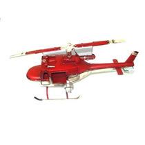 Helicoptero Vintage Bombeiros Em Latão