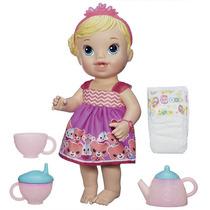 Boneca Baby Alive Hora Do Chá Loira Bebe E Faz Xixi Hasbro