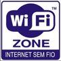 Placa Wi Fi Zone Para Ambientes Wi-fi Rede Loja Wireless